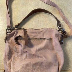 Leather and Ostrich handbag